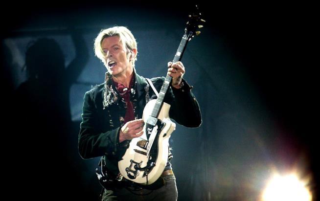David Bowie in primo piano