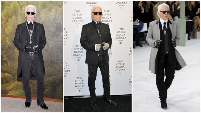 Il look uniforme di Karl Lagerfeld