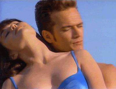 Brenda con il suo grande amore Dylan in Beverly Hills 90210
