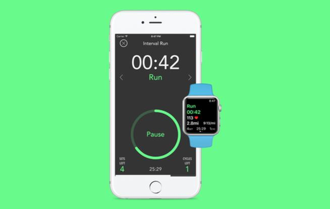 Un'immagine della app Interval Timer