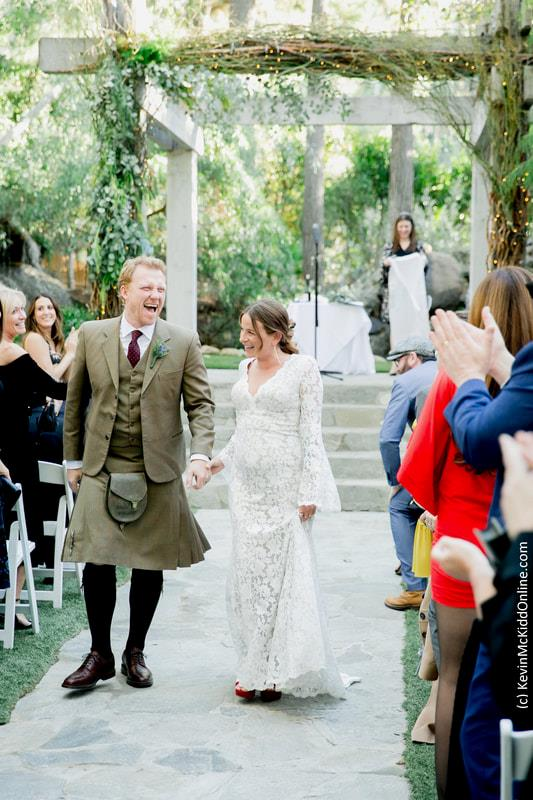 Una foto dal matrimonio di Kevin McKidd e Arielle Goldrath