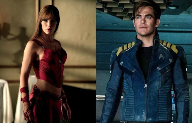 Jennifer Garner in Elektra e Chris Pine in Star Trek