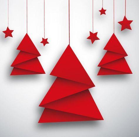 Alberi natalizi di carta