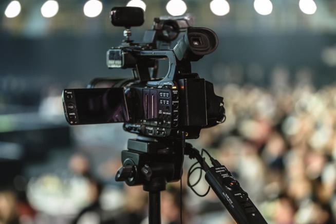 Una videocamera.
