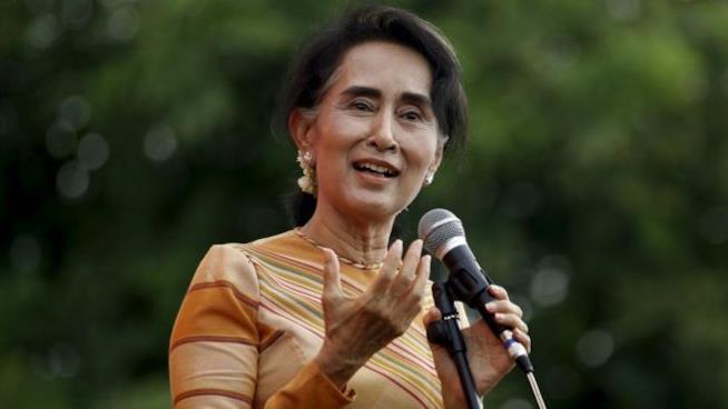 La leader birmana Aung San Suu Kyi