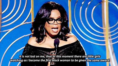 Oprah Winfrey riceve ilGolden Globe alla carriera