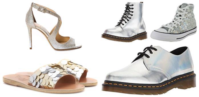 Con le paillettes e olografiche, le scarpe di moda per l'estate 2018