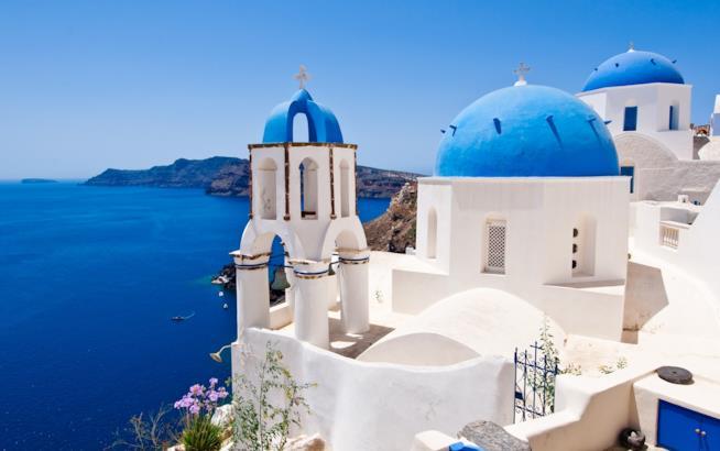 Scorcio dell'isola greca di Santorini