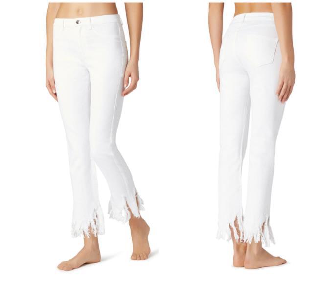 Jeans sfrangiato bianco Calzedonia