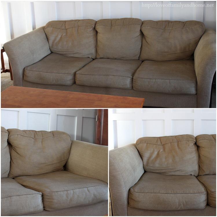 Vecchio divano del soggiorno