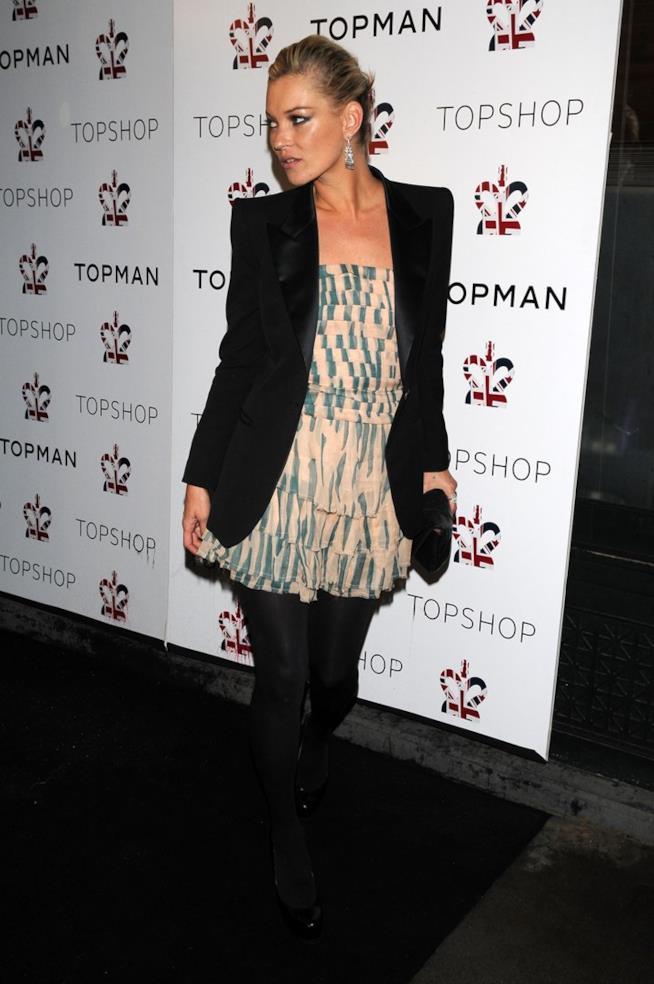 Kate Moss in tuxedo Topshop
