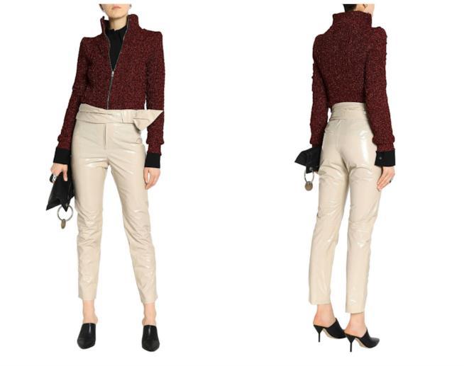 Effetto vernice per i pantaloni di moda