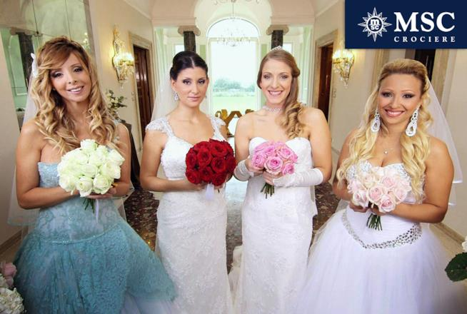 Le Quattro spose sorridenti di Qauttro Matrimoni in Italia