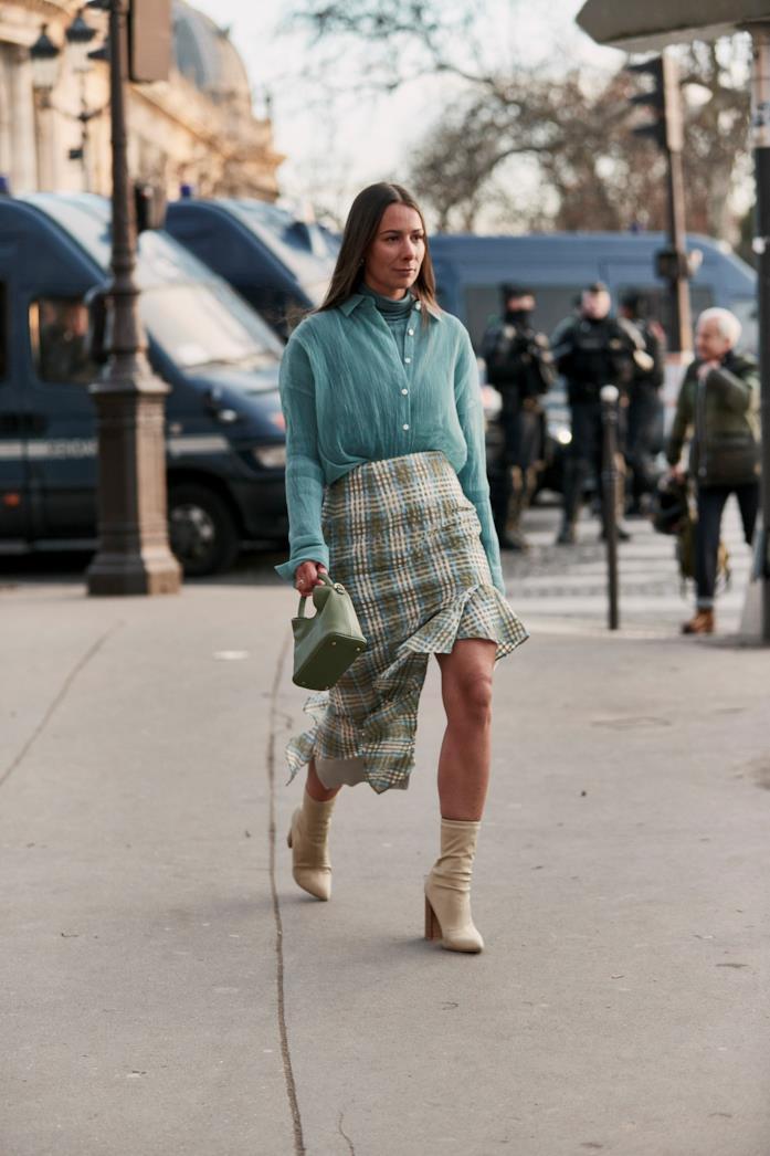 Alice Barbier in una foto streetstyle