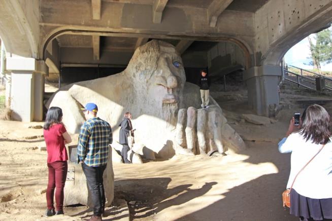 La scultura del Troll a Fremont