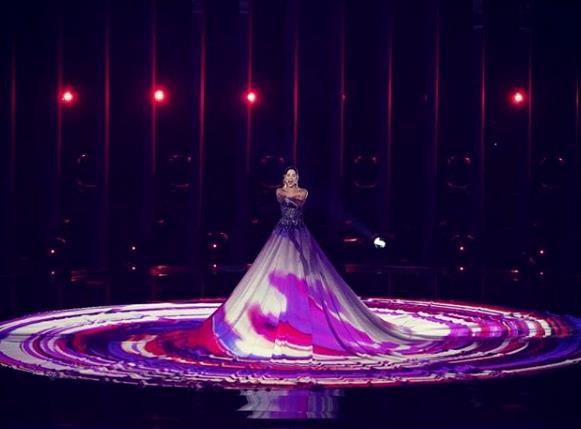 L'esibizione di Elina Netšajeva all'Eurovision Song Contest