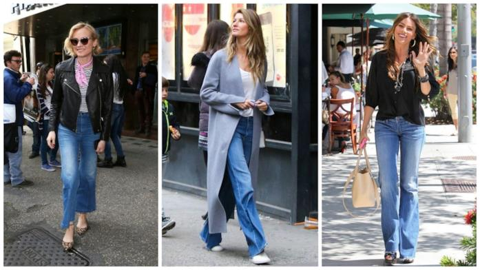 Le star che indossano i jeans flare e bootcut