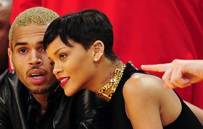 Chris Brown con Rihanna