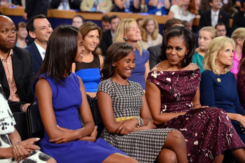 Michelle Obama con le due figlie