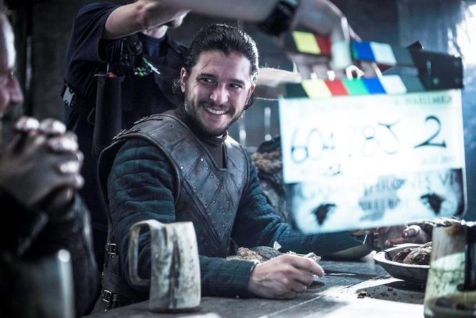 Jon Snow sul set di GOT