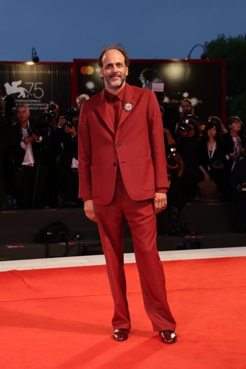 Luca Guadagnino sul red carpet di Venezia 75