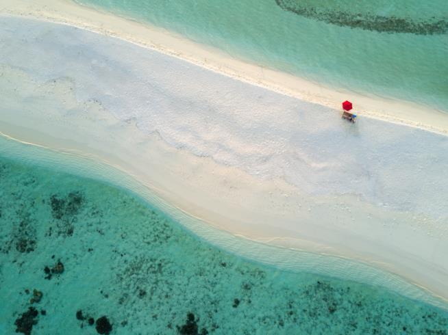Una stupenda spiaggia delle Maldive