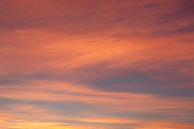 Cielo con i colori del tramonto