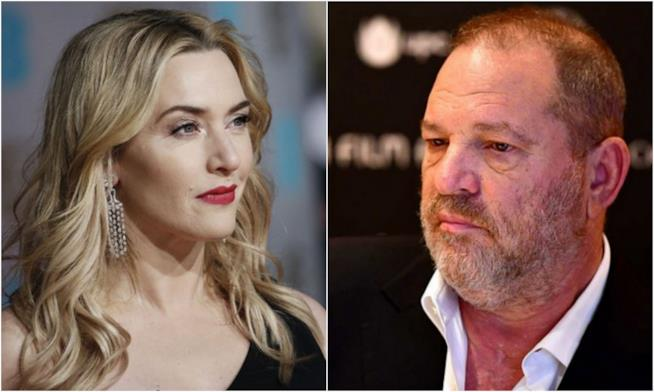 Kate Winslet e Harvey Weinstein in un collage