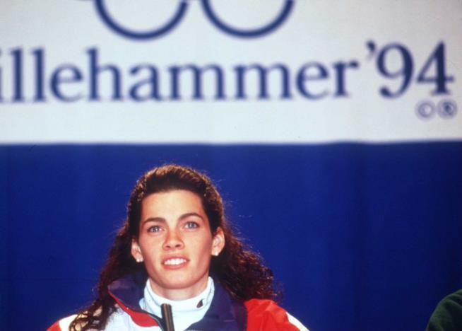 La medaglia d'argento olimpica Nancy Kerrigan nel 1994