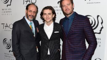 Il regista e gli attori di Chiamami col tuo nome ai 2017 New York Film Critics Awards