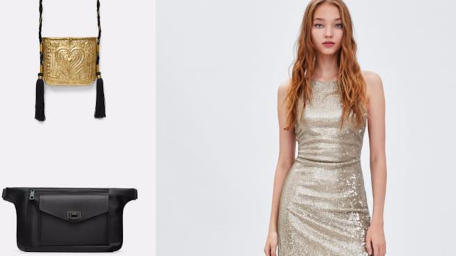 Zara Donna  gli outfit effetto paillettes e metal per l autunno 2018 27872cf59614