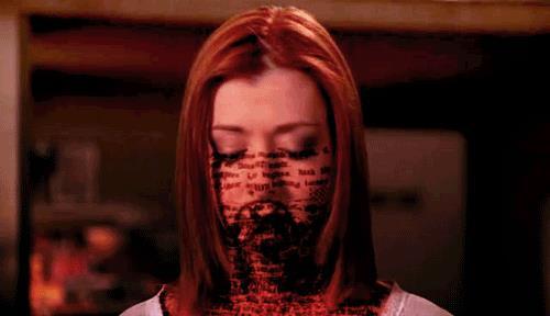 Willow in una scena di Buffy l'ammazzavampiri