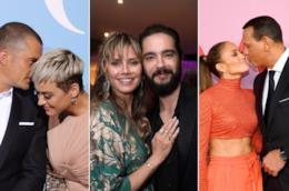 Orlando Bloom e Katy Perry, Heidi Klum e Tom Kaulitz, Jennifer Lopez e Alex Rodriguez