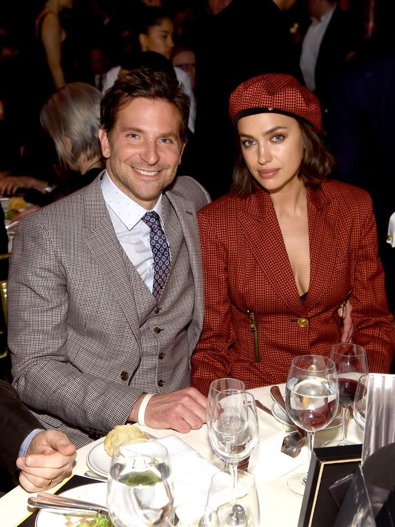 Bradley Cooper e Irina Shayk a tavola
