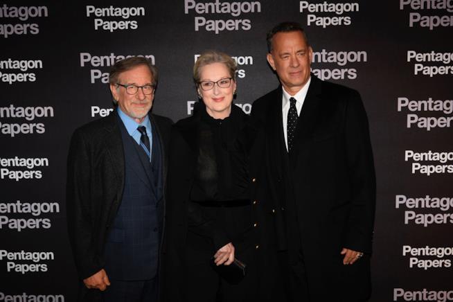 Steven Spielberg, Meryl Streep e Tom Hanks