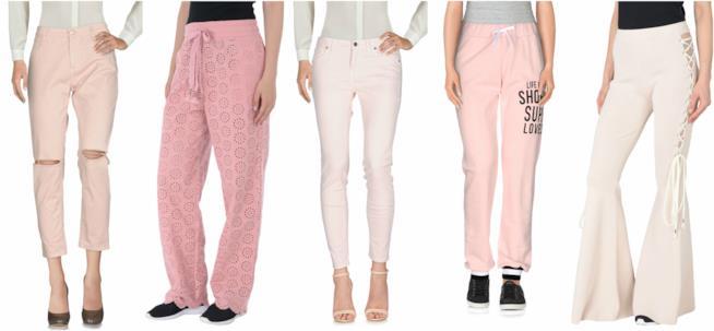 In rosa i pantaloni per la P/E 2018