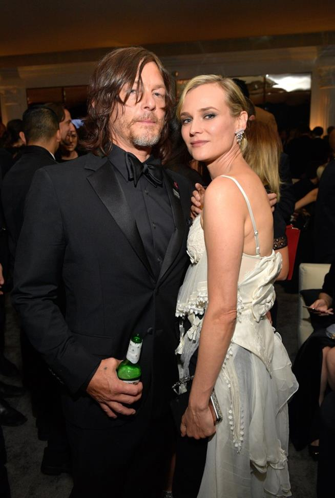 Norman Reedus e Diane Kruger ai Golden Globes