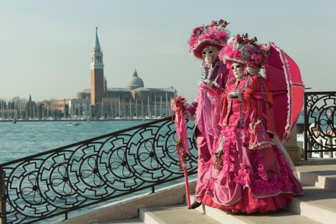 Due maschere a Venezia