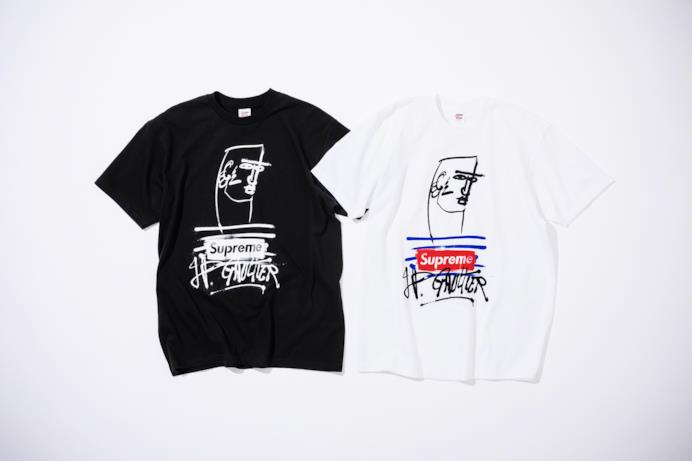 T-shirt con logo Supreme-Gaultier