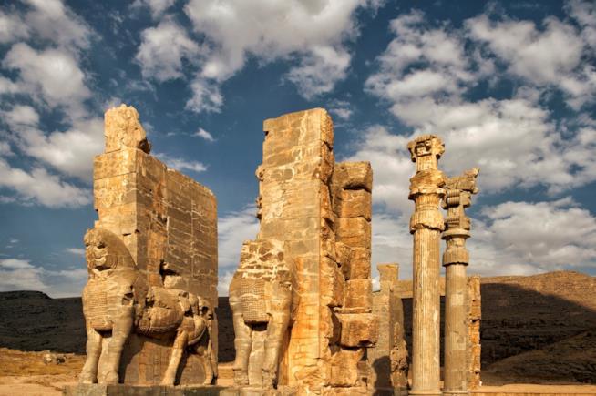 Rovine di Persepolis in Iran