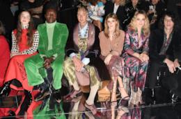 Diversi vip nel front row della sfilata di Gucci