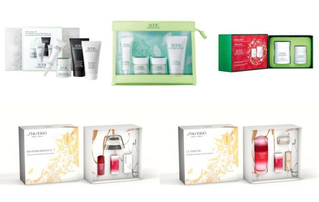 Cofanetti natalizi di Shiseido e Herborist