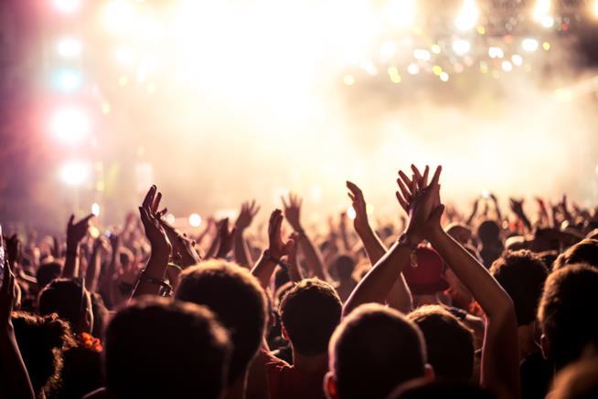 Ragazzi ad un concerto