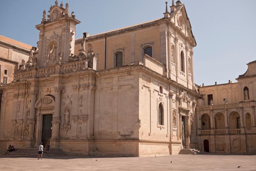 La facciata della Cattedrale di Lecce.