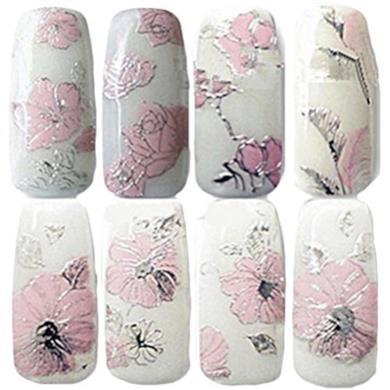 Adesivi decorativi per unghie motivo fiori in 3D