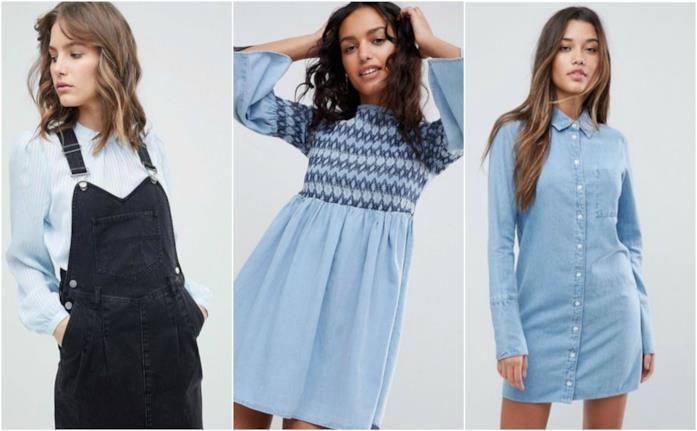 Abiti casual economici in denim moda primavera 2018