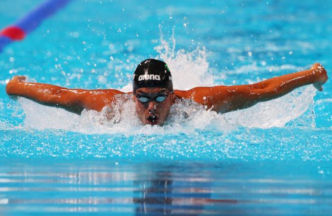 Luca Marin in vasca