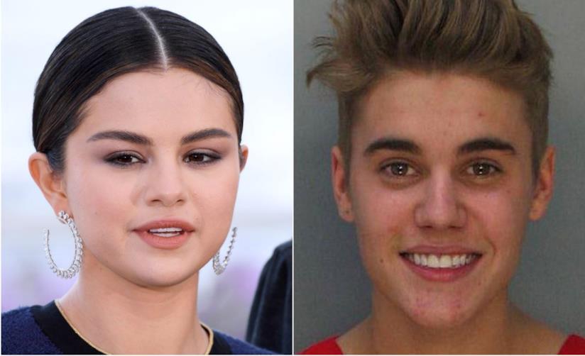 Collage tra Selena Gomez e Justin Bieber