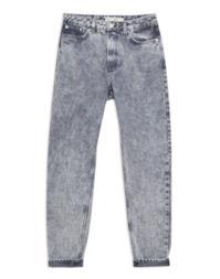 Grey Acid Wash Mom Jeans
