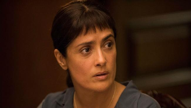 Salma Hayek in una scena del suo ultimo film Beatriz at Dinner